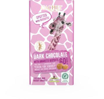 CACHET Horká čokoláda 60% - amaretto sušienky