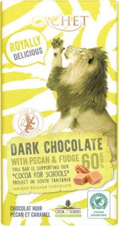 CACHET FUN Horká čokoláda 60% - pekanové orechy a maslový karamel