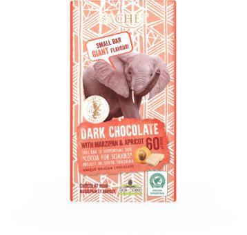CACHET FUN Horká čokoláda 60% - marcipán a marhuľa