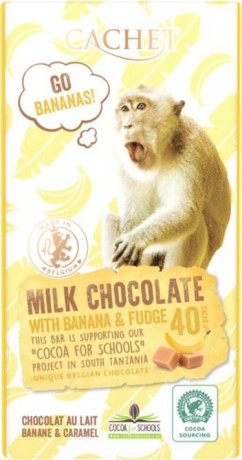 CACHET FUN Mliečna čokoláda 40% - banán a maslový karamel