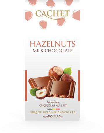 CACHET Mliečna čokoláda - lieskový orech