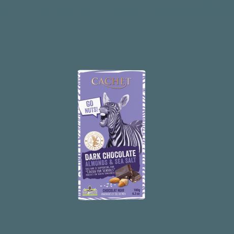 CACHET Horká čokoláda FUN - mandle a morská soľ