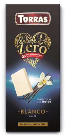TORRAS ZERO Biela čokoláda
