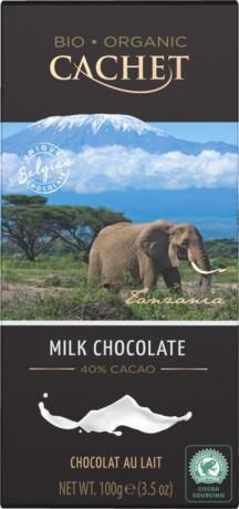 CACHET Tanzánia Mliečna čokoláda 40%