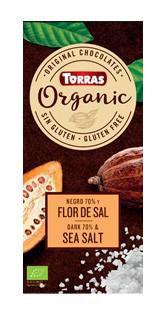 TORRAS Organic - Horká čokoláda 70% - morská soľ