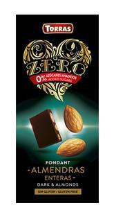 TORRAS ZERO Horká čokoláda - celé mandle