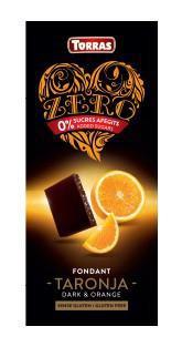 TORRAS ZERO Horká čokoláda - pomaranč