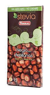 TORRAS Stévia Horká čokoláda - lieskový oriešok
