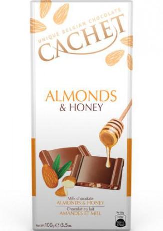 CACHET Mliečna čokoláda - mandle a med